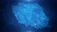 Poland Map 4K Graphical  Stock Footage