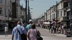 Shoppers on Great Yarmouth's busy Regent Road Stock Footage