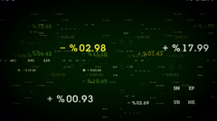 Percentages And Margins Green Stock Footage