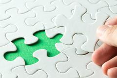 White jigsaw puzzle Stock Photos