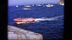 1963: lots of small and big boats in the sea CALIFORNIA Stock Footage
