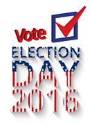 Voting concept letter Stock Illustration