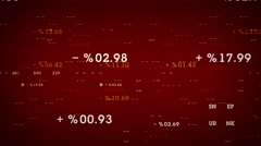 Percentages And Margins Red Stock Footage