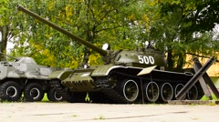 Tank T-64 Soviet Second-Generation Main Battle Tank Stock Footage