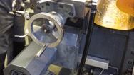 Mechanism in metal workshop Stock Footage