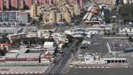 The UK border with Spain at Gibraltar Stock Footage