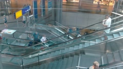 Pedestal shot from glass elevator at Berlin Central Station in Berlin Stock Footage