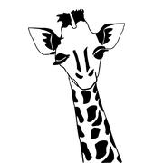 Cute giraffe for coloring Stock Illustration