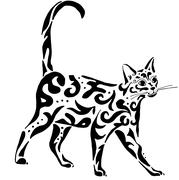 Graceful Egyptian cat Stock Illustration
