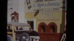 1952: market area beside road area is seen ARIZONA Stock Footage