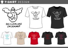 T shirt design with clown Stock Illustration