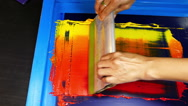 Blend yellow ink,orange ink and red ink Stock Footage