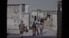 1952: graveyard cemetery old buildings ruin like town. ARIZONA Stock Footage