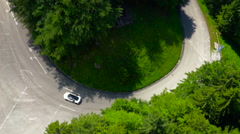Amazing aerial shot of Audi R8 and Tegernsee Stock Footage
