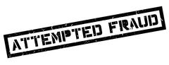 Attempted Fraud rubber stamp Stock Illustration