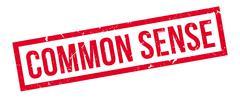 Common Sense rubber stamp Stock Illustration