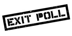 Exit Poll rubber stamp Stock Illustration