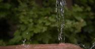 Water falling and Splashing, Normandy, Slow motion 4K Stock Footage