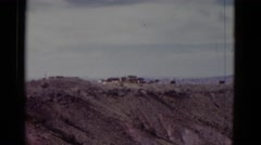 1952: rugged mountain top with deep crevices and canyons CALIFORNIA Stock Footage