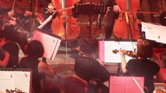 Orchestral violins Stock Footage
