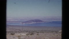 1952: beautiful lake nestled in rugged mountainous landscape CALIFORNIA Stock Footage