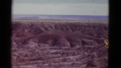 1952: beautiful desert canyon surrounded by rugged landscape CALIFORNIA Stock Footage