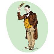 Gentle retro male Stock Illustration