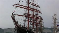 Sailboat mast Stock Footage