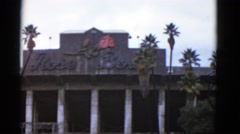 1952: rose bowl stadium front sign entrance. CALIFORNIA Stock Footage