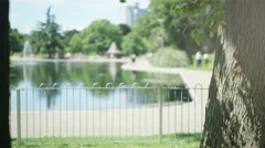 4K Healthy & fit mature man working out in the park Stock Footage