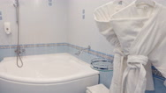 Bathroom interior at the hotel Stock Footage