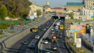 Movement of cars highway Stock Footage