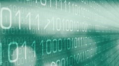 New technology cyberattack green lights Stock Footage
