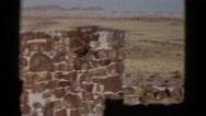1952: women at brick building golden brown flowing hills of grain CALIFORNIA Stock Footage