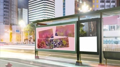 Billboards in the city. Slideshows. Stock After Effects