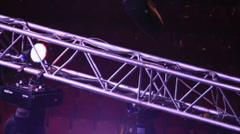 Stage lighting constructions Stock Footage