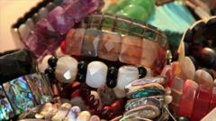 Stone bracelets Stock Footage