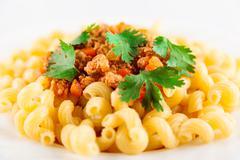 Pasta Bolognese Closeup Stock Photos