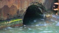 Stone pier grot Stock Footage