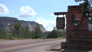 Entrance of Zion national park Stock Footage
