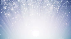 Seamless loop Christmas background with small snowflakes star particles. Stock Footage