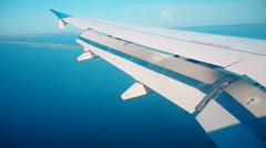 Take-Off Of A Jet Plane Flying Stock Footage