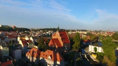 Polska, Bydgoszcz, Stare miasto, Fara bydgoska Stock Footage