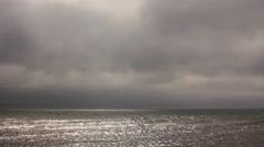 Sunlight glare on the sea Stock Footage