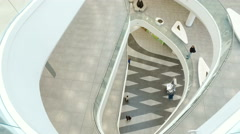 """Buyers and customers in the new shopping mall """"Horosho"""" in Moscow Stock Footage"""
