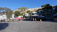 Casemates Square in Gibraltar, evening sunshine Stock Footage