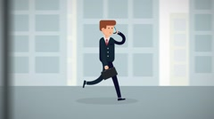 Businessman Walk Simple Corporate Logo Reveal Modern Business Animation Intro Kuvapankki erikoistehosteet