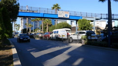 Gibraltar Street scene with traffic Stock Footage
