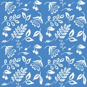 High quality original semless pattern with leaves, berry and oth Stock Illustration