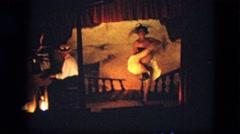 1963: vaudeville women cabarete dancing old western style fashion CALIFORNIA Stock Footage